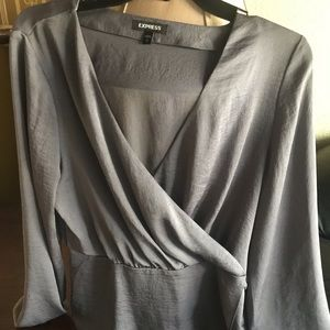 Express brand silk long sleeve top wore once